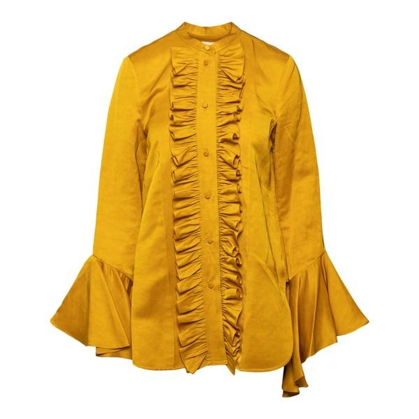 Ochre shirt with ruffles                                                                                                                              Khaite 2138444 front