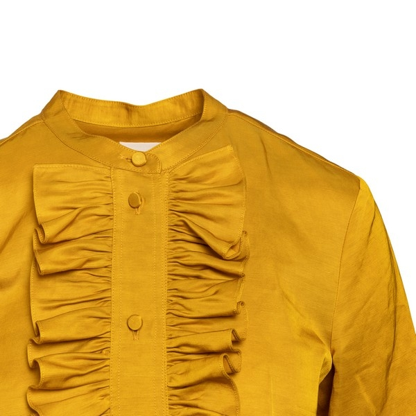 Ochre shirt with ruffles                                                                                                                               KHAITE