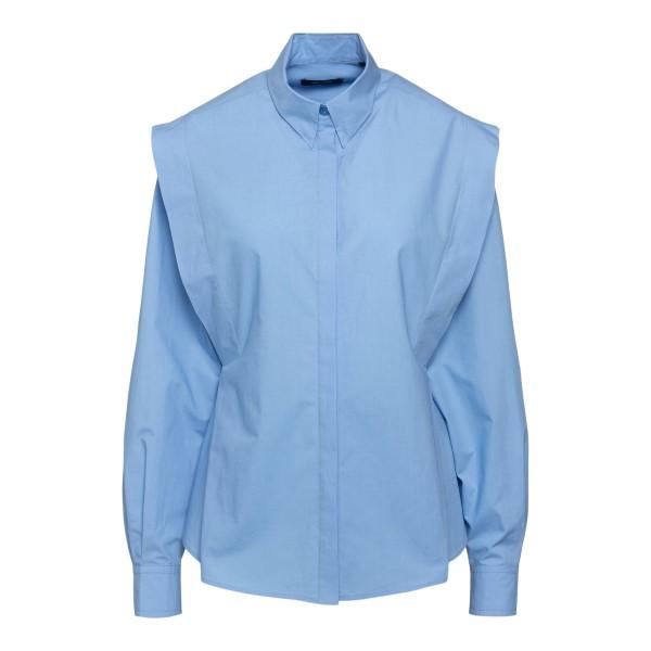 Camicia azzurra con spalline ampie                                                                                                                     ISABEL MARANT                                      ISABEL MARANT