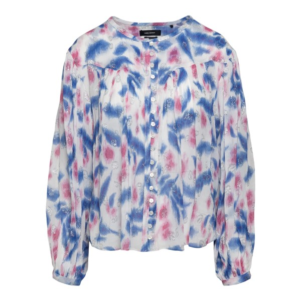 Multicolored shirt with silver details                                                                                                                 ISABEL MARANT