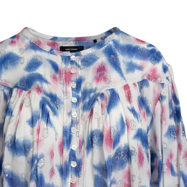 Camicia multicolore con dettagli argento                                                                                                               ISABEL MARANT                                      ISABEL MARANT