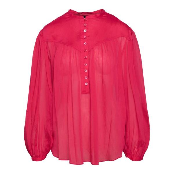 Camicia rosso ciliegia semitrasparente                                                                                                                 ISABEL MARANT                                      ISABEL MARANT