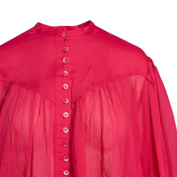 Semi-transparent cherry red shirt                                                                                                                      ISABEL MARANT