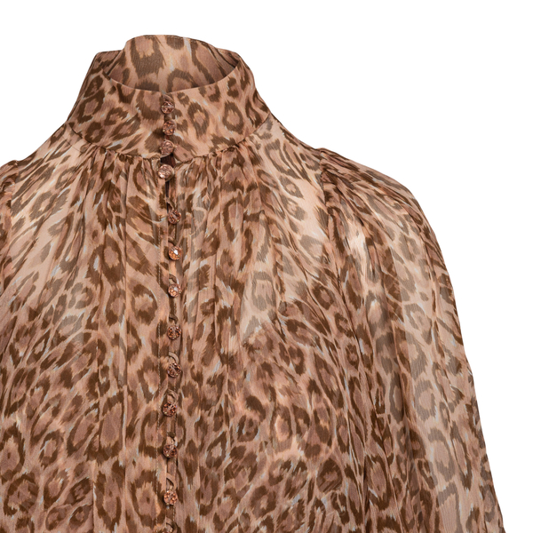 Semitransparent animalier blouse                                                                                                                       ZIMMERMANN