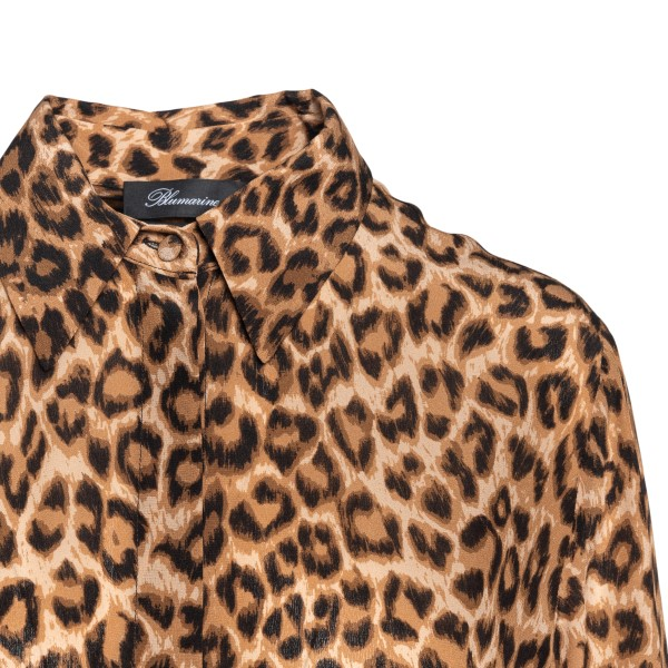 Brown animal print shirt                                                                                                                               BLUMARINE