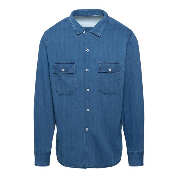 Blue denim shirt                                                                                                                                      Universal Works 25670 back