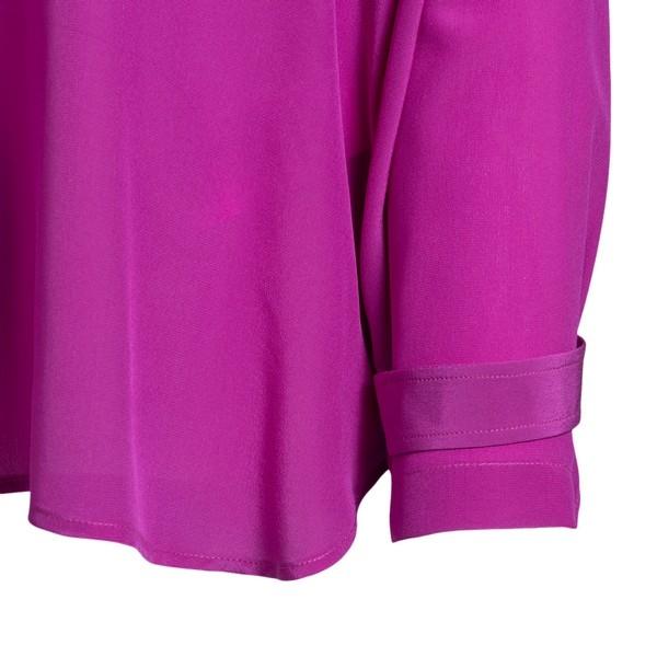 Purple blouse with mock neck                                                                                                                           JEJIA