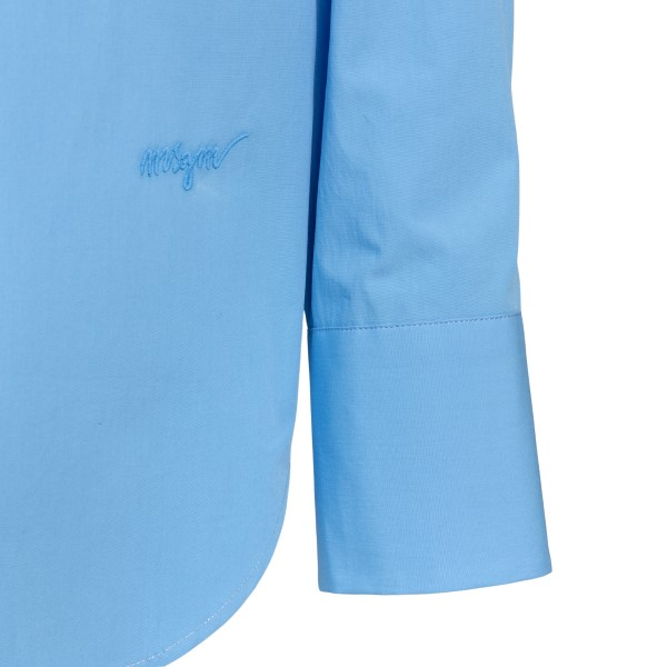Light blue shirt with opening on the back                                                                                                              MSGM