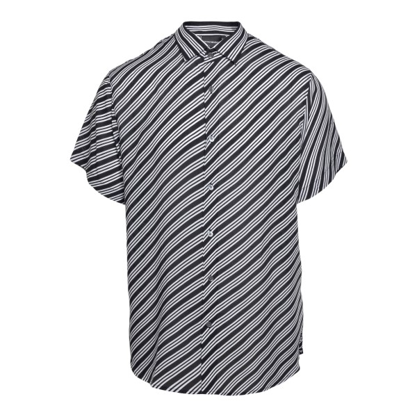 Black shirt with diagonal stripes                                                                                                                     Emporio Armani 3K1CB9 front