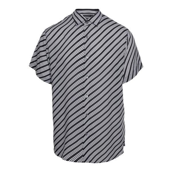 Black shirt with diagonal stripes                                                                                                                     Emporio Armani 3K1CB9 back