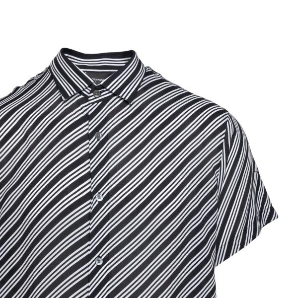 Black shirt with diagonal stripes                                                                                                                      EMPORIO ARMANI