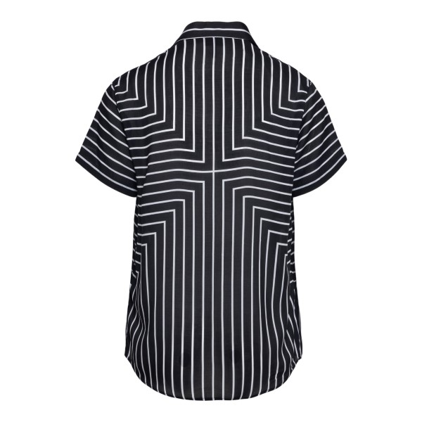 Camicia nera con pattern a righe                                                                                                                       EMPORIO ARMANI                                     EMPORIO ARMANI