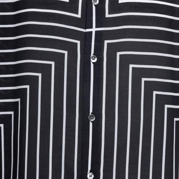 Black shirt with striped pattern                                                                                                                       EMPORIO ARMANI