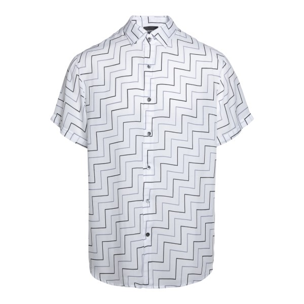 White shirt with geometric pattern                                                                                                                    Emporio Armani 3K1CB9 front