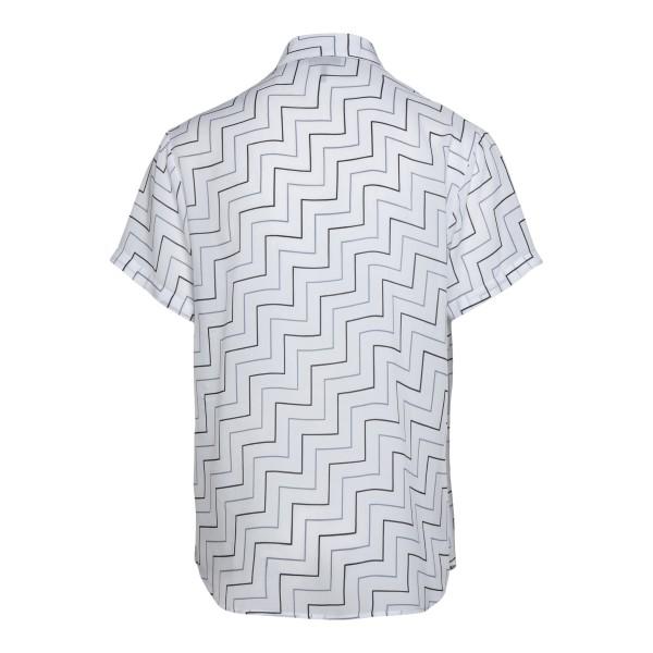 Camicia bianca con pattern geometrico                                                                                                                  EMPORIO ARMANI                                     EMPORIO ARMANI