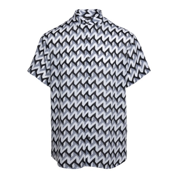 Multicolored shirt with geometric pattern                                                                                                             Emporio Armani 3K1CB9 back