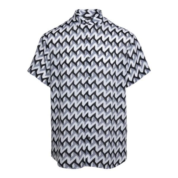 Camicia multicolore con pattern geometrico                                                                                                            Emporio Armani 3K1CB9 retro