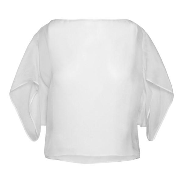 Top bianco con maniche ampie                                                                                                                          Emporio Armani 3K2K68 retro