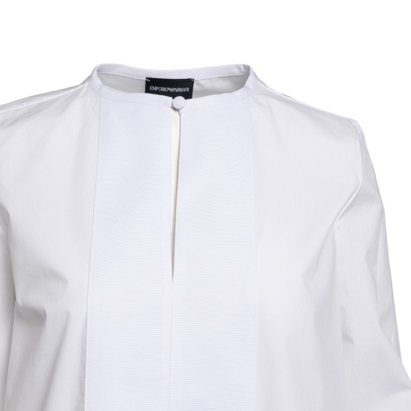 White blouse with grosgrain bands                                                                                                                      EMPORIO ARMANI