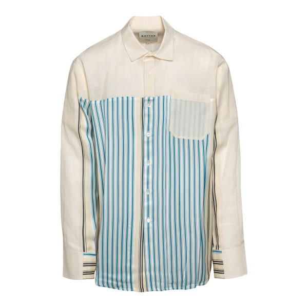 White shirt with striped pattern                                                                                                                      Botter 4016 back