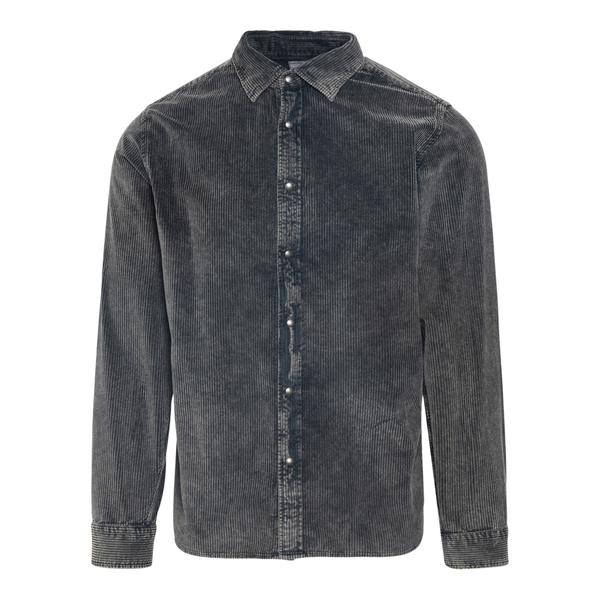 Grey velvet shirt                                                                                                                                     Xacus 426ML back