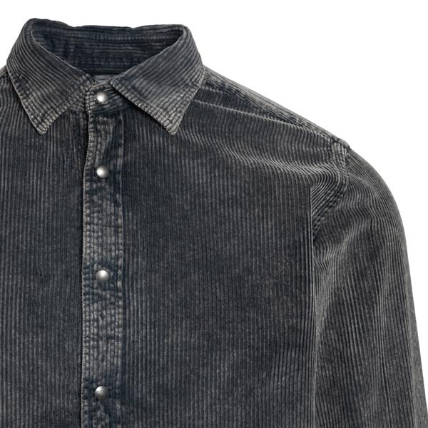 Grey velvet shirt                                                                                                                                      XACUS