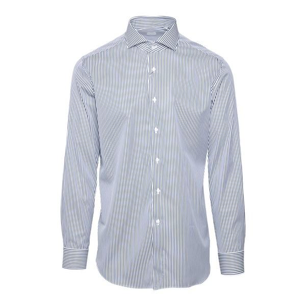 Camicia bianca a righe blu                                                                                                                            Xacus 520 fronte