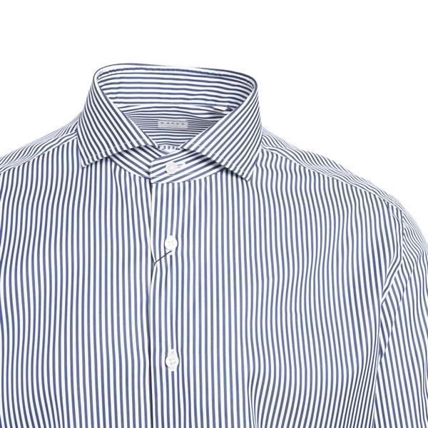 White shirt with blue stripes                                                                                                                          XACUS