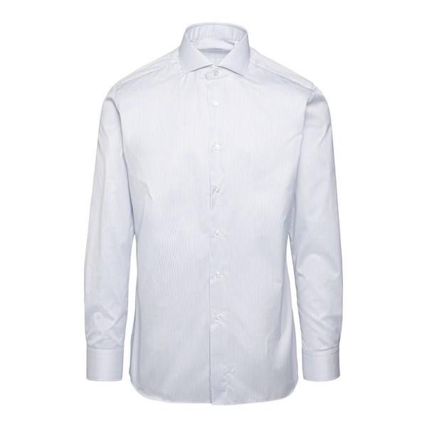 Camicia bianca a righe                                                                                                                                Xacus 520 fronte