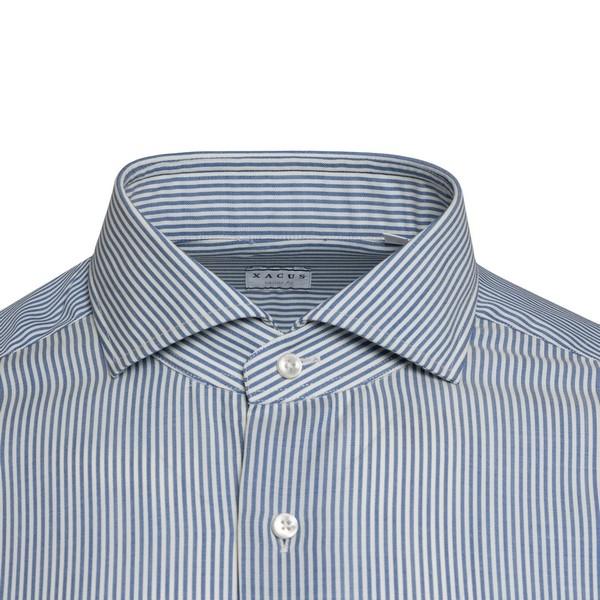 Camicia blu e bianca a righe                                                                                                                           XACUS                                              XACUS