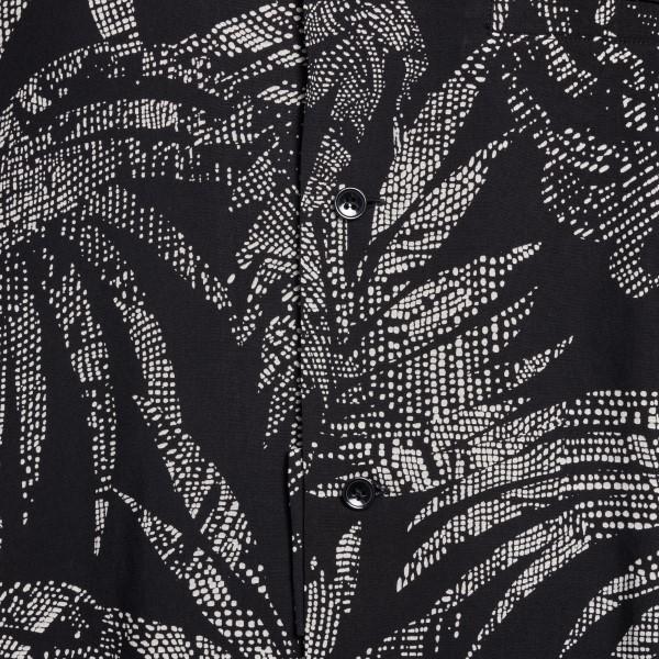 Camicia nera con stampa palme                                                                                                                          SAINT LAURENT                                      SAINT LAURENT