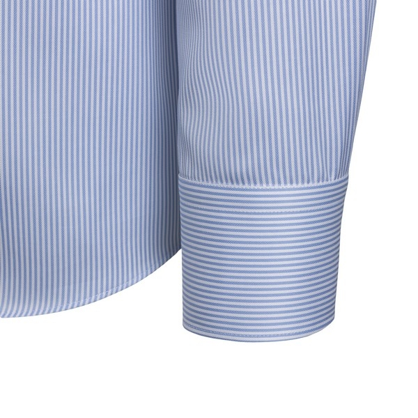 Blue and white striped shirt                                                                                                                           XACUS