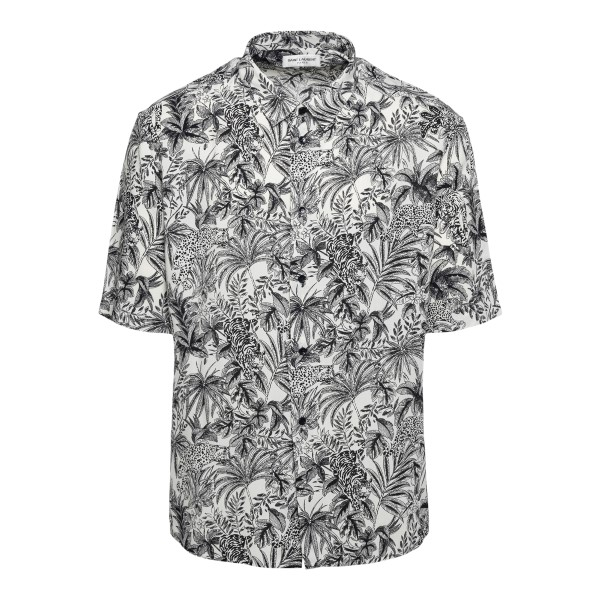 White shirt with graphic print                                                                                                                        Saint Laurent 601070 front