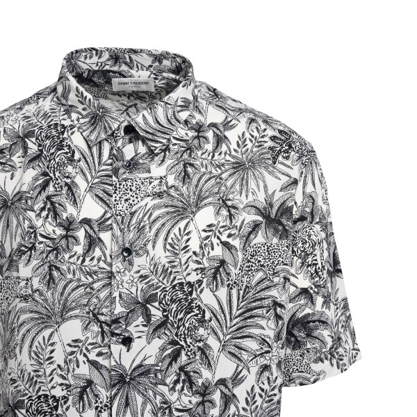 White shirt with graphic print                                                                                                                         SAINT LAURENT