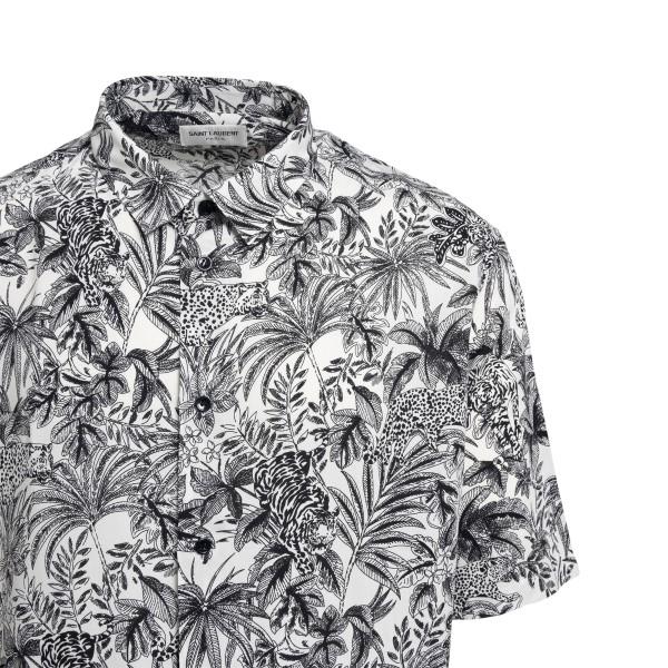 Camicia bianca con stampa grafica                                                                                                                      SAINT LAURENT                                      SAINT LAURENT