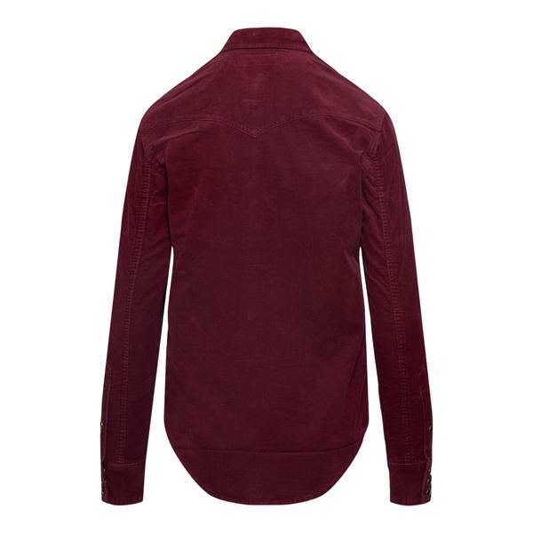Burgundy red velvet shirt                                                                                                                              SAINT LAURENT