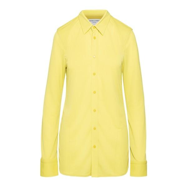 Yellow long-sleeve shirt                                                                                                                              Bottega veneta 636591 front