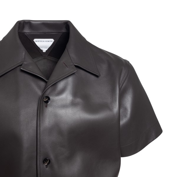 Brown leather shirt                                                                                                                                    BOTTEGA VENETA