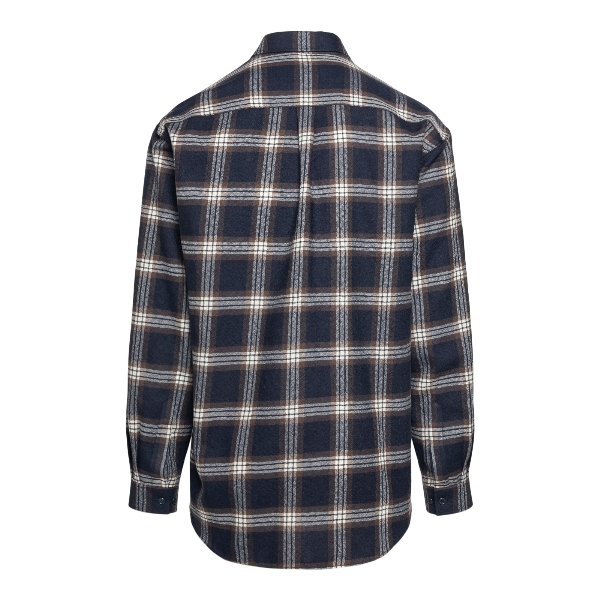 Blue checked shirt with logo patch                                                                                                                     GUCCI