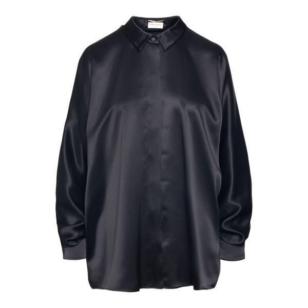 Black satin shirt                                                                                                                                     Saint Laurent 650223 back