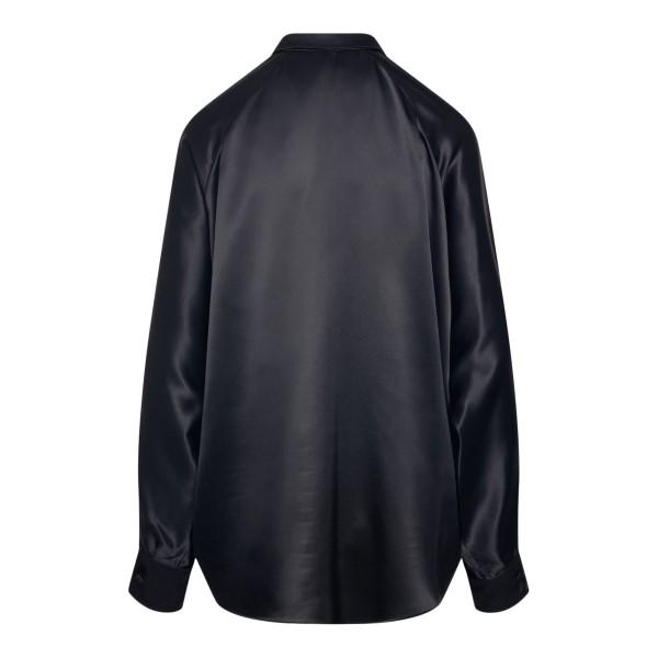 Camicia nera satinata                                                                                                                                  SAINT LAURENT                                      SAINT LAURENT