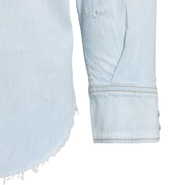 Camicia in denim azzurro chiaro                                                                                                                        SAINT LAURENT SAINT LAURENT