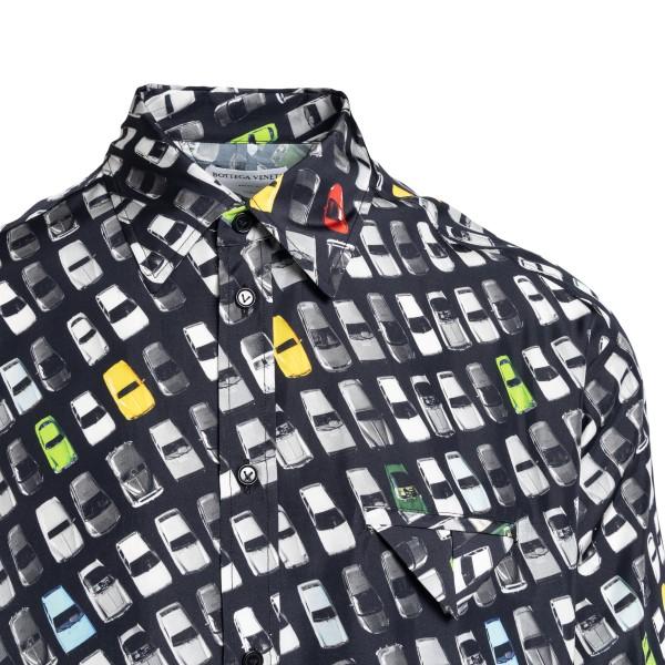 Camicia nera con stampa automobili                                                                                                                     BOTTEGA VENETA BOTTEGA VENETA