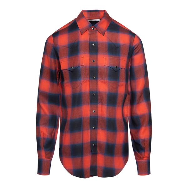 Check shirt                                                                                                                                           Saint Laurent 667908 back