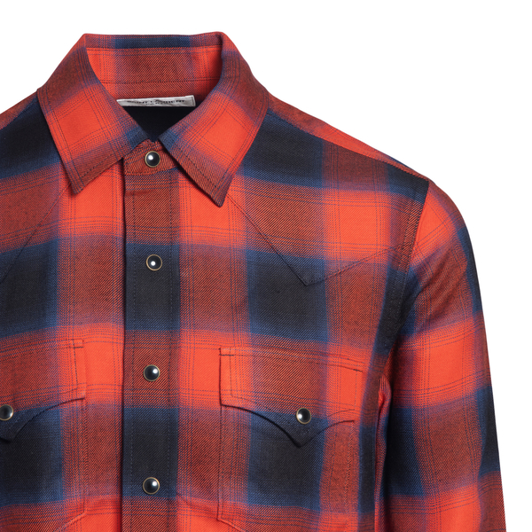 Check shirt                                                                                                                                            SAINT LAURENT