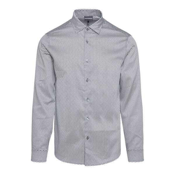patterned slim fit shirt                                                                                                                              Emporio Armani 6K1C65 back