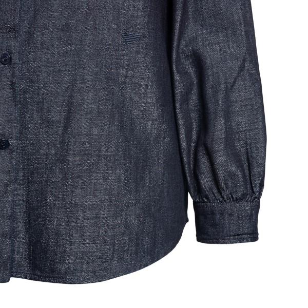 Blue denim effect shirt                                                                                                                                EMPORIO ARMANI