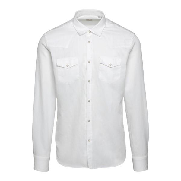 Camicia bianca classica con taschini                                                                                                                   XACUS                                              XACUS