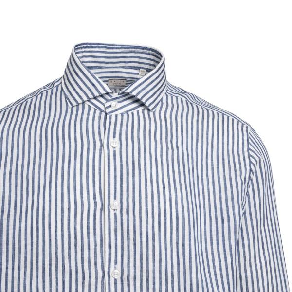 Blue and white striped shirt                                                                                                                           XACUS