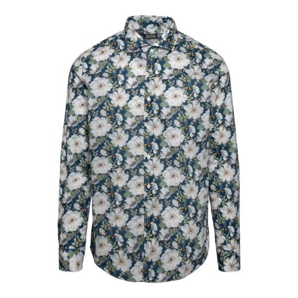Blue floral shirt                                                                                                                                      XACUS